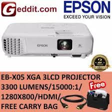 EPSON EB-X05 XGA 3LCD <b>PROJECTOR</b> 3300 LUMENS / 15000:1 ...