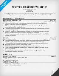 freelance writing resume template  freelance writer resume example