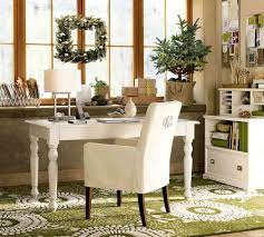 beautiful white desk chair in attractive green chic attractive home office