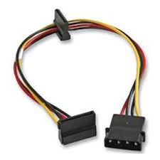 <b>Кабель Akasa 4pin</b> PSU molex to 2x 15pin SATA adapter 30см (AK ...