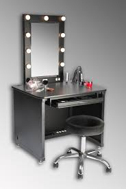bedroom with black wooden corner makeup table using lights and mirror as well as vanity fixtures plus led bathroom vanity lights black vanity lighting