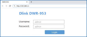 <b>Dlink DWR-953</b> - Default login IP, default username & password
