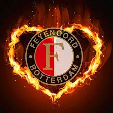 5D diamond painting Feyenoord heart fire icon <b>full</b> square / <b>round</b> ...