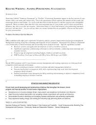 example resume profile statement template example resume profile statement