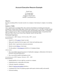 resume format for accounts executive in resume resume account executive resume templates template