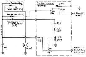 onan control board operation start circuit schematic diagram
