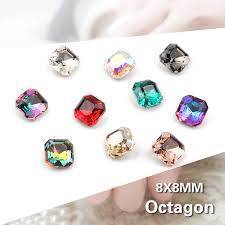 30/<b>100pcs</b> Mix Color <b>Nail</b> Art Rhinestones Square Octagon Crystal ...