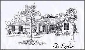 Florida home builder Woodland Enterprises poplar home floor plans    poplar home plan sketch floor plan design poplar