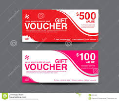 pink gift voucher template coupon layout flyer design stock vector gift voucher template coupon design ticket vector illustration stock photography