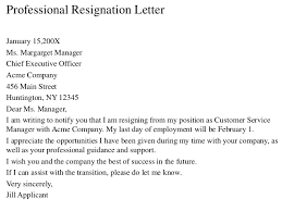resignation lettersincerely  your signature your typed name     professional resignation letter