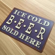 home decor plate x: lkb x  vintage metal tin signs about quot ice cold beer quot retro