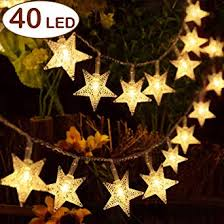 Aookey <b>Fairy Lights Stars Battery</b> Operated String Lights, 5M 40 LED ...