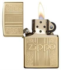 <b>Зажигалка Zippo Classic</b> с <b>покрытием</b> High Polish Brass, 29677 на ...
