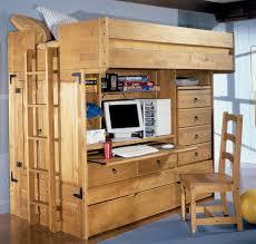 kids bunk beds desk