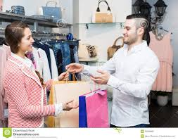 happy customer shop assistant stock photo image  happy customer shop assistant