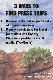 Once you place your profile on TravMedia  you     ll receive a weekly newsletter with the latest announcements from CVBs  tourism agencies  national tourist     Pitch   Travel   Write