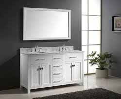 white double sink bathroom caroline  inch double square sink bathroom vanity in white by