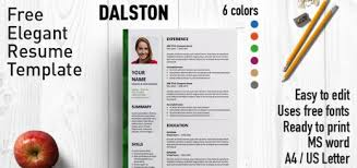 dalston resume template free resume template for microsoft word