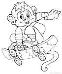 Раскраска новогодние обезьяны