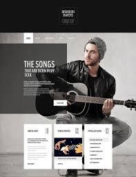 portfolio website themes templates premium templates clean seo friendly music composer s portfolio website 69
