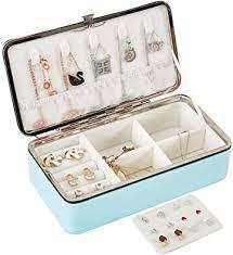 LATIT Jewellery Box Organiser <b>Small</b> Travel <b>PU Leather</b>: Amazon.co ...