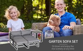 Outsunny <b>5 Piece Garden</b> Conversation Set Patio Furniture Set ...