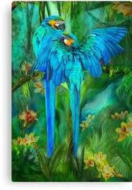 Full <b>diamond</b> embroidery Flowers in the <b>two parrots</b> Needlework ...
