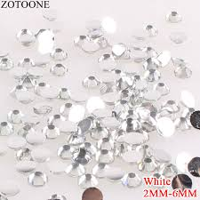 <b>ZOTOONE</b> White Resin Strass <b>Applique Stones</b> And Crystals Non ...