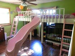 double loft bed diy kids slide bunk beds toddlers diy
