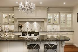 beautiful white kitchen cabinets: glamour white kitchen cabinet with beautiful sharp lighting