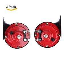 hot sale h314 12v 125db car air horn snail compact siren loud alarm kit red for motorcycle trucks available