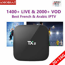 Android 9.0 TV Box H96 <b>MAX</b>+1 Year NEO pro French IPTV ...