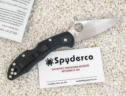 <b>Нож складной</b> SPYDERCO <b>DELICA</b> 4 <b>ZDP</b>-<b>189</b> C11PGRE - купить ...