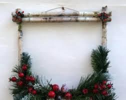 cabin decor lodge sled: winter wreath christmas wreath birch cabin daccor rustic wreath white birch lodge birch wreath christmas daccor rustic christmas