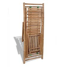 vidaXL <b>Bamboo Deck Chair</b> with Footrest Furniture <b>Patio</b> Garden ...