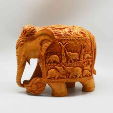 Elephant with <b>Miniature Carving</b> | 841028 | Craft House India