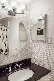 black silver bathroom