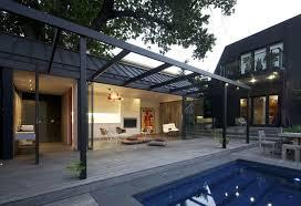 Australian Architects   Modern House Designs   Page Posh pool house   glass walls
