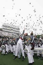 united states military academy class of 2008 toss their hats after class dismissed west point