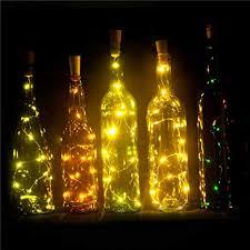 Set of 6 <b>Wine Bottle</b> Lights Battery Powered, LED Cork Shaped ...