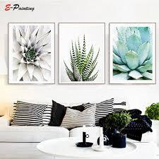 Modern Wall Art Succulent Print Cactus Wall <b>Canvas</b> Painting ...