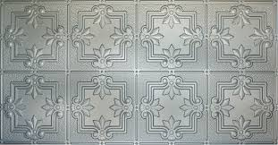 sagging tin ceiling tiles bathroom: white  nickel white