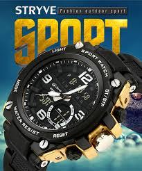 <b>Stryve</b> Fashion Sports Watches <b>Men</b> Waterproof Countdown Digital ...