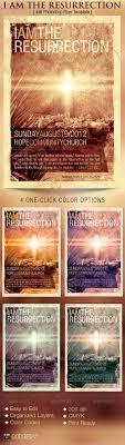 i am the resurrection church flyer template gfx i am the resurrection church flyer template