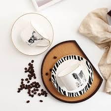<b>Nordic style zebra elk</b> bone china coffee cup and saucer sets ...