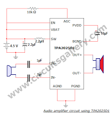 simple home audio power amplifier circuit schematic   circuits gallery w battery powered portable audio amplifier circuit diagram using tpa  d