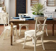 pottery barn style dining table:  braxton fixed dining table c