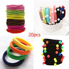 20pcs/lot Candy Fluorescence Color Elastic <b>Hair Bands</b> Ponytail ...
