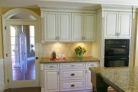 Cream Kitchen Antiqued Kitchen Cabinets Traditional Parker Bailey Cabinet Reviews Terrific Backsplash  T