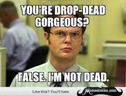 Apparently you aren't drop dead gorgeous Meme | Slapcaption.com ... via Relatably.com